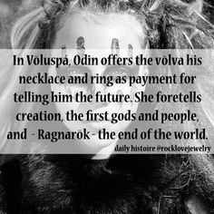 Odin seeks knowledge from a Volva... #ragnarok #vikings