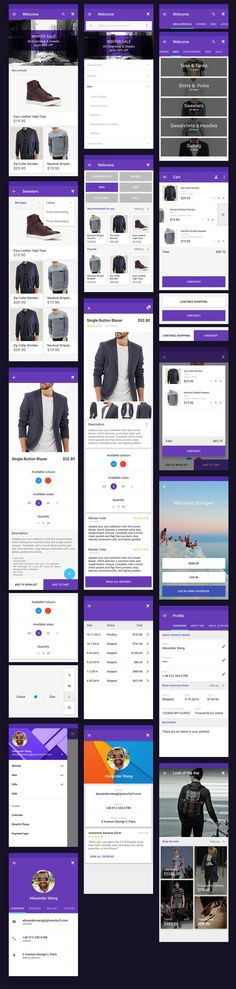 Material Design Resources For Designers & Developers Android Material Design, Design System, Mobile Ui, Ecommerce, Shopping, App, User Interface, Apps, E Commerce