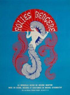 Erte Folies Bergere Poster by Erté, 1975