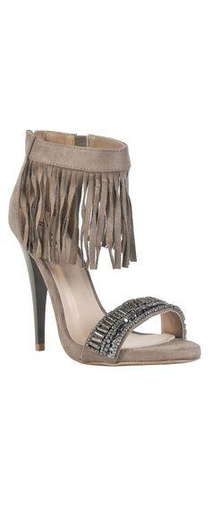a6e630e519cec8 Fringe Benefits Embellished Taupe Heels
