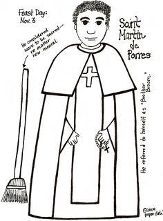 St. Martin de Porres Coloring Sheet