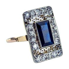 1stdibs - Art Deco 1920s Diamond Sapphire Gold Ring explore items from 1,700  global dealers at 1stdibs.com