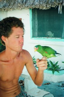 Bogart, my hunchback parrot who loved rum.