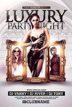 The Luxury Nights Flyer Template - http://ffflyer.com/the-luxury-nights-flyer-template/ Enjoy downloading the The Luxury Nights Flyer Template by SonnyFlyer   #Birthday, #Club, #Dinner, #Elegant, #Event, #Gala, #Gold, #Luxury, #Party