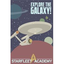 If watching Star Wars and Star Trek wasn't enough to get you thinking about joining the Rebel Alliance or signing up for Starfleet Academy, we've found some propaganda posters Star Wars, Star Trek Tos, Nave Enterprise, Starfleet Academy, Star Trek Universe, Geek Out, Fiction, Just In Case, Nerdy