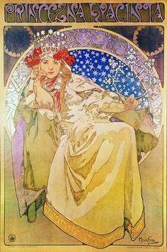 Alphonse Mucha – Princezna Hyacinta (1911)