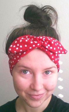 Twist Tie - Red Polka Dot