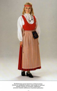 Punkalaidun, Finland European Clothing, Folk Clothing, Folk Costume, Costumes, Global Village, Traditional Clothes, The Shining, Something Beautiful, World Cultures