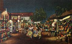 A vintage Olvera Street postcard.