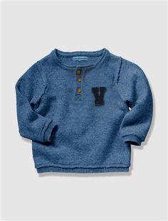 Bébé Grise Enfant Agrume Vertbaudet Tunisien Col bleu Garçon Pull dqT8xwY1w