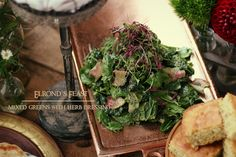 The Hobbit: Elrond's Feast - Mixed Greens with Herb Dressing - Feast of Starlight Herb Dressing Recipe, Dinner And A Movie, Kid Friendly Dinner, Food Themes, Food Ideas, Greens Recipe, Side Dish Recipes, I Love Food, The Hobbit