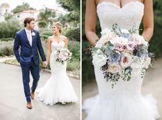 Ojai Valley Inn Wedding | Josh Elliott Photography | Sugar Branch Events | Little Hill Floral Design #bridalbouquet #ojaiwedding #blueandblushflowers #matthewchristopher