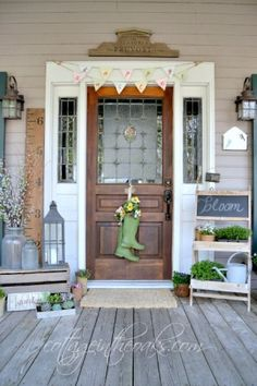 Cottage spring front porch