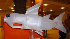Plastic Bottle Recycled Art Shark
