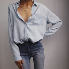 Give it a look for what we pick best for each category!Soft cotton shirt by Raelene Whalley Mode Outfits, Casual Outfits, Fashion Outfits, Fashion Ideas, Classic Outfits, Dress Casual, Casual Shirts, Dress Outfits, Winter Outfits