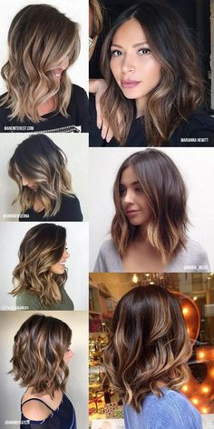 Balayage: inspiration for blonde, brown and caramel hair - All About Hairstyles Medium Hair Styles, Curly Hair Styles, Balayage Lob, Brown Balayage, Bayalage, Balayage Brunette, Ombré Hair, Bob Hair, Caramel Hair