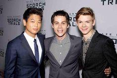 Ki Hong Lee, Dylan O'Brien, and Thomas Sangster