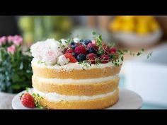 Jak zrobić TORT na wyjątkową okazję? Krem Rafaello   Sugarlady - YouTube Strawberry Patch, Cake Cookies, Vanilla Cake, Cheesecake, Desserts, Youtube, Food, Creme, Peanut Butter