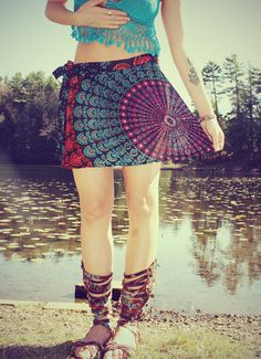 Hey, I found this really awesome Etsy listing at https://www.etsy.com/listing/114914295/mini-wrap-skirt-peacock-hippie-skirt