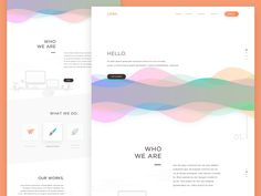 Somekind of portfolio website.  Came with a lot of dribbblers shot for the inspirations. :)