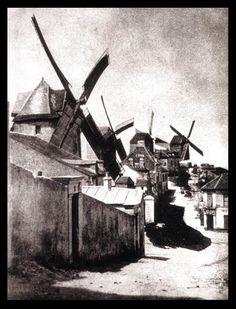 Hippolyte Bayard. Le Moulin de la Petit Tour. 1839   Une des plus anciennes photos de Montmartre (et de Paris)