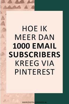 Je kunt Pinterest niet alleen gebruiken om meer verkeer naar je artikelen en producten te trekken; je kunt het ook inzetten om meer mensen op je e-maillijst te krijgen. In dit artikel vertel ik je precies hoe ik Pinterest gebruik om meer e-mail subscribers te krijgen.