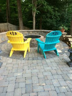 Monogram Adirondack Chairs For Fun U0026 Personalization!