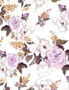 """Annabelle Violet"" Patterned Paper, 10 pack - Antiquaria"