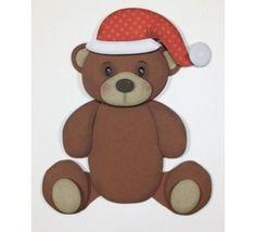 FREE » DIY 3D cut file --Shape 03: Urso Noel by Karin Arruda - Silhouette Brasil-- christmas bear santa father christmas hat