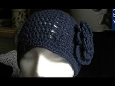 How to Crochet a Easy Double Crochet and Shell Beanie - YouTube
