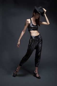 53d7cdd90cc57 B-Boy Black Velvet Lounge Pants and Dutty Wine Black Racer Bra Top   sukininjas  nightletes Racer Top £85 Lounge Pants £128 www.sukishufu.com