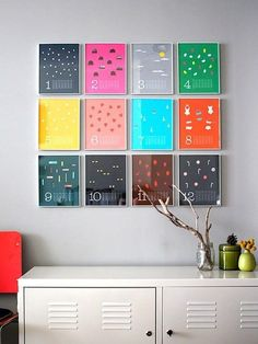 Easy diy wall decor view in gallery colorful wall calendar as wall art fun chalkboard calendar ideas easy diy hanging christmas decorations Diy Home Decor Rustic, Simple Home Decoration, Frame Decoration, Wall Decorations, Christmas Decorations, Diy Wanddekorationen, Easy Diy, Simple Diy, Simple Crafts