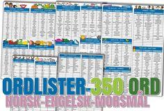 Malimo.no - gratis lister med 350 grunnleggende ord for å bygge bro mellom norsk, engelsk og morsmål!