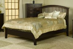 33% Off Cambrai Mission Bed w/ Low Footboard in Oak | Solid Wood Amish Furniture