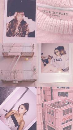 Wallpaper Lockscreen Ariana Grande Pink Vintage (by @ayssaays)