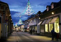 Christmas in Old Town of Rauma, southwest of Finland