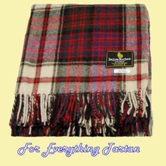 MacDonald Dress Modern Clan Tartan Lambswool Blanket Throw ada0fca04