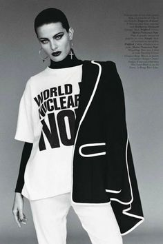 Katharine Hamnett scandalous fashion | Salierai Rankinėje