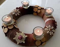 Advent, Napkin Rings, Tea Lights, Candles, Amazon, Home Decor, Crown Cake, Table, Crafting