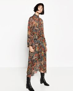 Long Abstract Print Dress from Zara R1490,00