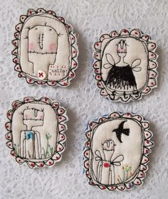 Pinterest led me to... | Mary & Patch | Broches by Hens Teeth