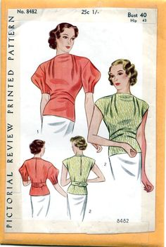 Pictorial Review 8482 | 1930s Blouse