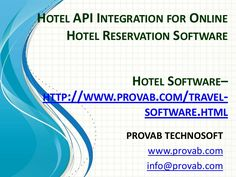 Hotel Crs  Hotel Central Reservation System  Its Features Http