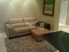 Área Estudio según Diseño, sofá en cuero italiano, alfombra en lana.
