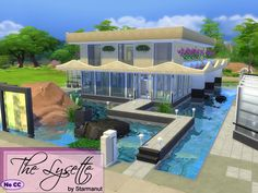 The Lysette house by Starmanut at TSR via Sims 4 Updates