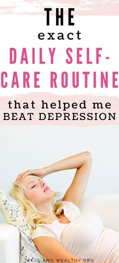 I'm obsessed with self-care because I credit my daily self-care routine with curing me of severe depression. Get your free depression self-care checklist! Beat Depression, Depression Support, Depression Recovery, How To Cure Depression, Fighting Depression, Overcoming Depression, Mental Health Issues, Mental Health Awareness, Recovering From Depression