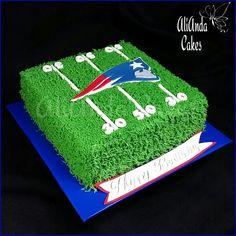 New England Patriots cake by AliAnda Cakes.