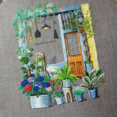 #embroiderydesign #embroideryhoop #cafe #flower #dmcthreads #stitch #nakış #handcraft #summer #손자수 #꽃자수 #프랑스자수 #스티치 #자수타그램