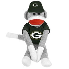Green Bay Packers NFL Plush Uniform Sock Monkey