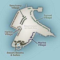 Map of the Resort Island on Florida's Duck Key
